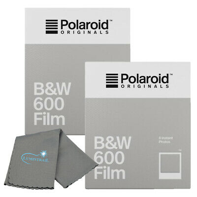 Polaroid Originals 4671 B&W Instant Film 600 & i-Type Cameras 2-PACK + Cloth