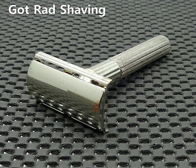 Vintage 1940's Gillette Fat Handle HEAVY TECH  DE Safety Razor Clean!!