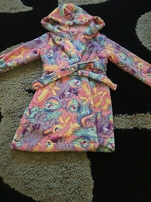 girls my little pony Dressing Gown Bath Robe Age 6-7 Yrs