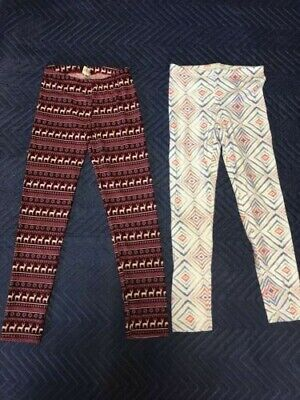 Girls Leggings, 10/12, Large, Set of 2, Old Navy Pink Republic, EUC