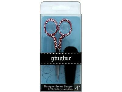 "Gingher - Lauren 4"" Embroidery Scissors with Sheath (M207.32)"
