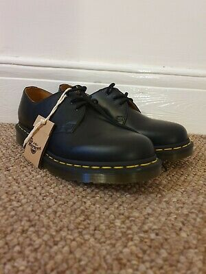 Dr Martens 1461 Smooth Black Mens Shoes 8 Brand New With Tags Leather RRP £119