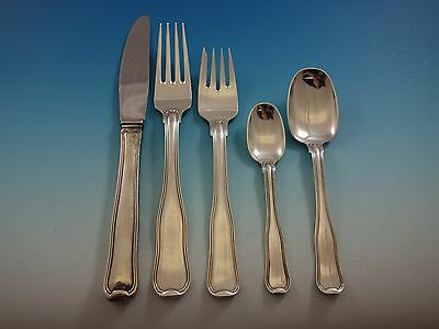 Old Danish by Georg Jensen Sterling Silver Flatware Set For 12 Service 66 Pieces