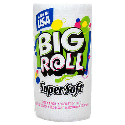 New 304312 Big Roll Paper Towel 90Ct 2Ply Super Soft (24-Pack) Disposable Cheap