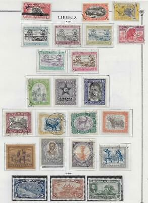 23 Liberia Stamps from Quality Old Album 1923-1940