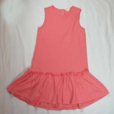 Crewcuts 10 Girls Dress Tunic Pink Everyday Coral Cotton Sleeveless Spring
