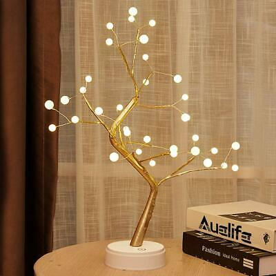 Auelife Upgraded Copper Wire Tree Branch Lights DIY Led Desk Tree Lamp 36 Pea...