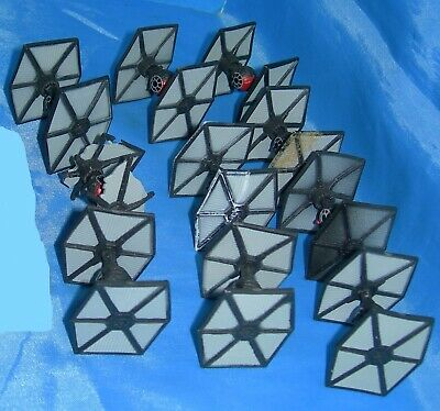 Star Wars TFA Micro Machines First Order TIE Fighter Variations Lot 10 Ship 2015