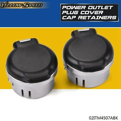 Dash Power Outlet Cover Set For 2007 - 2013 Silverado Sierra Tahoe 20983936