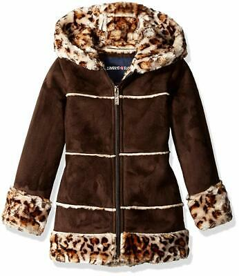 Limited Too Girls' Little Faux Shearling Coat, Brown, 5/6