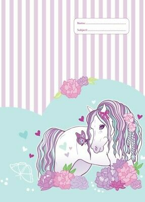 NEW Spencil Peony Pony II Horse Design A4 School Book Cover