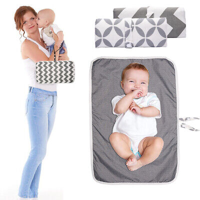 Diaper Changing Mat Baby Play Mat Change Baby Care Washable Foldable Travel Home