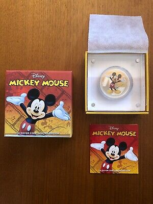 Disney Mickey Mouse 2014 $2 1 Oz Silver Proof Coin-Limited Edition Oz Seller