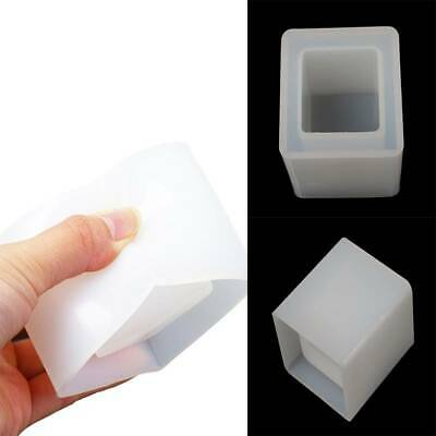 DIY Cube Silicone Mould Pen Container Storage Jewelry Pendant Epoxy Resin Mold