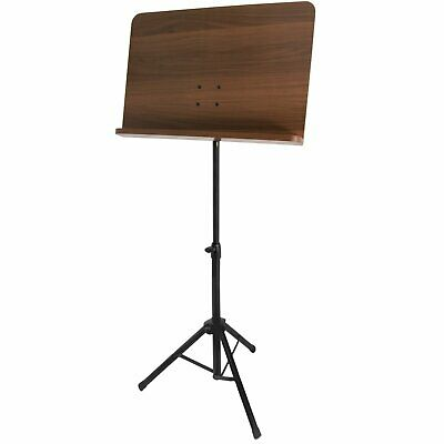 Wooden Music Stand -  Adjustable Orchestral Sheet Music Stand