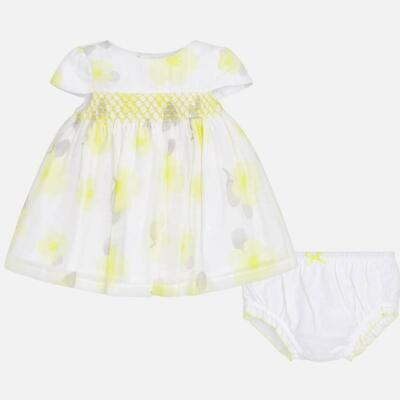 Mayoral Baby Girls Lemon Voile Dress sizes 12mths,18months,18mths   1824-71