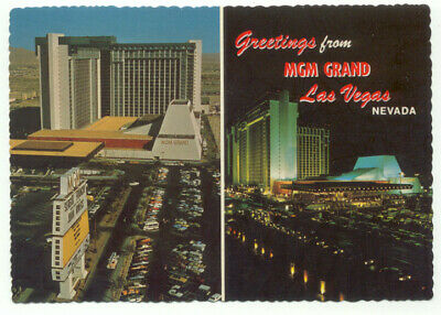 Las Vegas Greetings From The MGM Grand Hotel  Postcard - Nevada