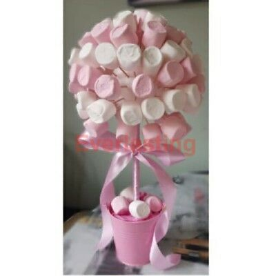 NEW sweet tree pk of 5 x 55mm balls and 15cm dowels enough for 5 small trees