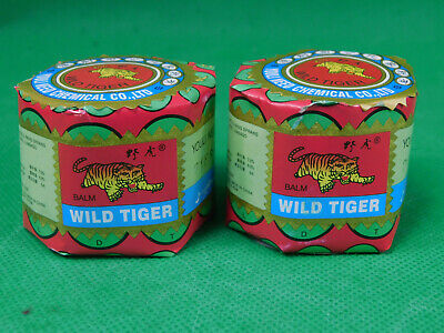 LOT of 2   WILD TIGER BALM ** Muscles Ointment **Herbal Rub Massage**