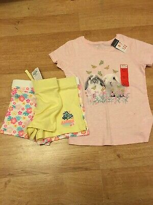 Girls T Shirt and 2x  Shorts age 5-7 BNWT