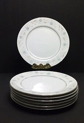 "English Garden Fine China 10 1/4"" Dinner Plates Set of Seven"