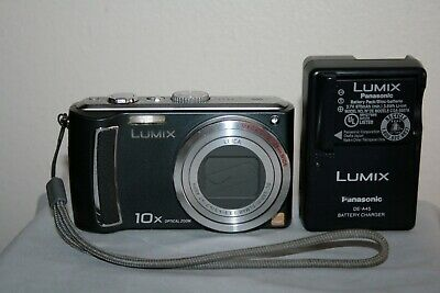 Panasonic Lumix DMC-TZ4 8.1MP black digital camera 10x optical zoom