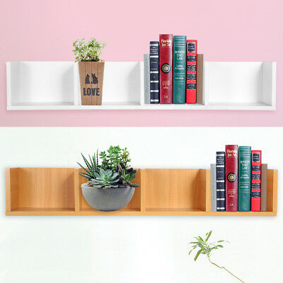 4 Cube Floating Wooden Cube Shelves Hanging Shelf Wall Storage Display 2 Colors