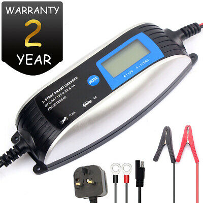 12V 6V Car Battery Charger Intelligent Automatic Trickle 7 Function Fast Car Van