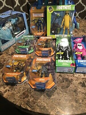 Fortnite Action Figures 9 Lot Peely Solo Mode Victory Series NEW