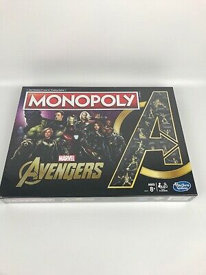 Monopoly Marvel Avengers Endgame Special Edition Hasbro Gaming Ages 8+ NIB