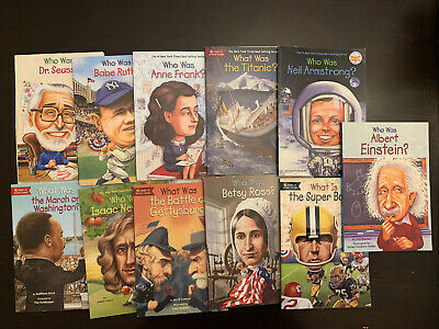 12) Lot of 10 Who Was / Who Where / What Is/ Where Is / What Was Book Lot Series