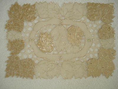 Bn Set Of 3 Table Place Mats With Cutwork & Embroidery