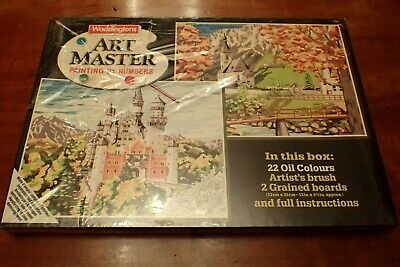Vintage Waddingtons Art Master Painting By Numbers Unopended/Part Shrink Wrapped