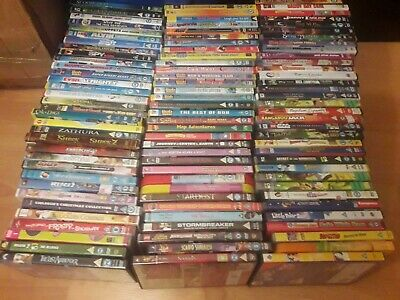JOB LOT OF 100 DVDS wholesale KIDS CHILDRENS (40p per DVD) - DVD - TOP TITLES