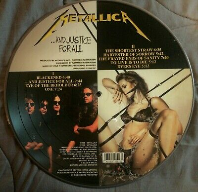 Metallica ‎– ...And Justice For All Picture Disc LP Vinyl (Brazil Limited)