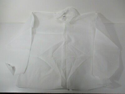 Snap Front Closure Type White Polypropylene Disposable Shirt SMALL (Pack of 25)