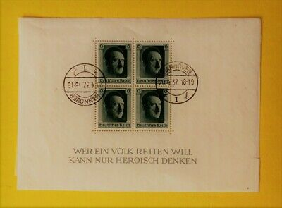 Germany Third Reich 1937 Hitler's Culture Fund/48Th Birthday Free Us Shipping!