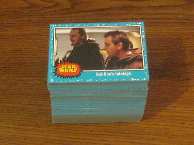 Topps Journey to Star Wars The LAST JEDI blue border card set 1-110