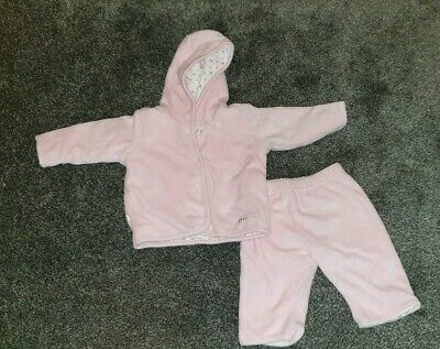 Babys Warm Baby Pink 2 Piece Outfit! Marks & Spencer! 0-12 Months