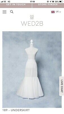 Wed2Be Amixi 189 Hoop Underskirt White For Fishtail Wedding Dress Free Delivery