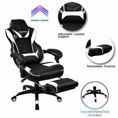 Racing Gaming Chair Ergonomic Computer High Back Swivel PU Leather Seat Office
