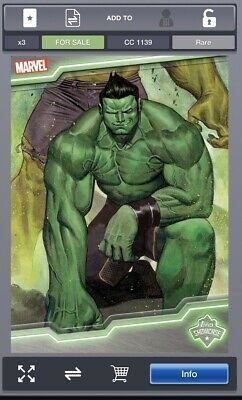 Topps Marvel Collect Card Trader Topps Showcase Hulk #1