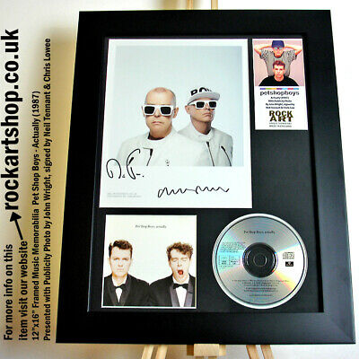 PET SHOP BOYS Actually SIGNED BY NEIL TENNANT+CHRIS LOWE Photo Autographed WORLD