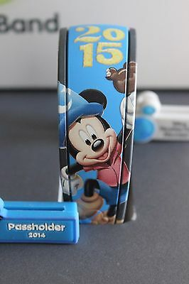 Disney NEW YEAR MICKEY Magic Band 2015 SORCERER Hat MOUSE MagicBand BLUE WDW