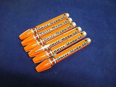 Dykem 40 Paint Marker Pen - Orange x 6 Mark Metal Rubber Plastic