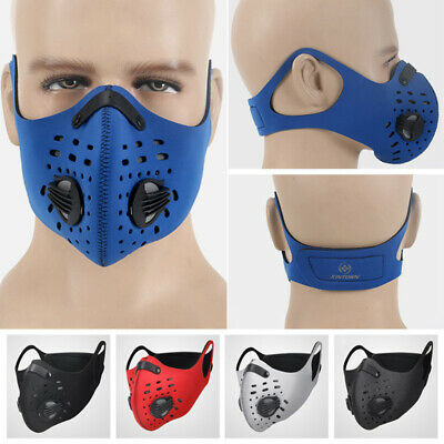 Activated Carbon Dust Proof Cycling Face Mask Anti Pollution Bike Running Shield