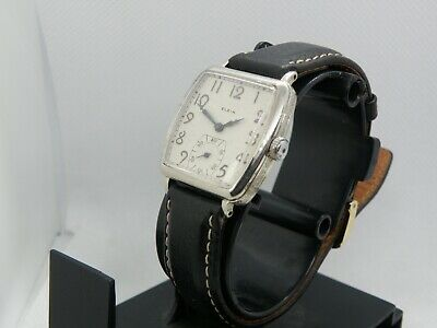 .REFURBISHED ELGIN *ART DECO *  SERVICED 1930`s    ETCHED MEN`S WATCH.. STUNNING