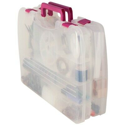 "Creative Options Pro Latch Connectable Satchel 5-22 Compart-14.75""x2""x11"" Clear"