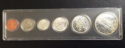 The  Old Canada Silver Coins Mint 1965 Bu Set Uncirculated.# 5.