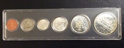 The  Old Canada Silver Coins Mint 1965 Bu Set Uncirculated.# 6.